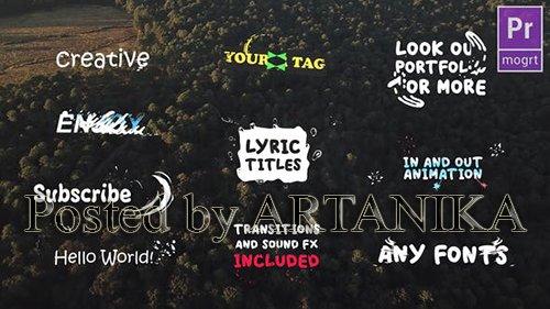 VH - Lyric Titles | Premiere Pro MOGRT 23633255