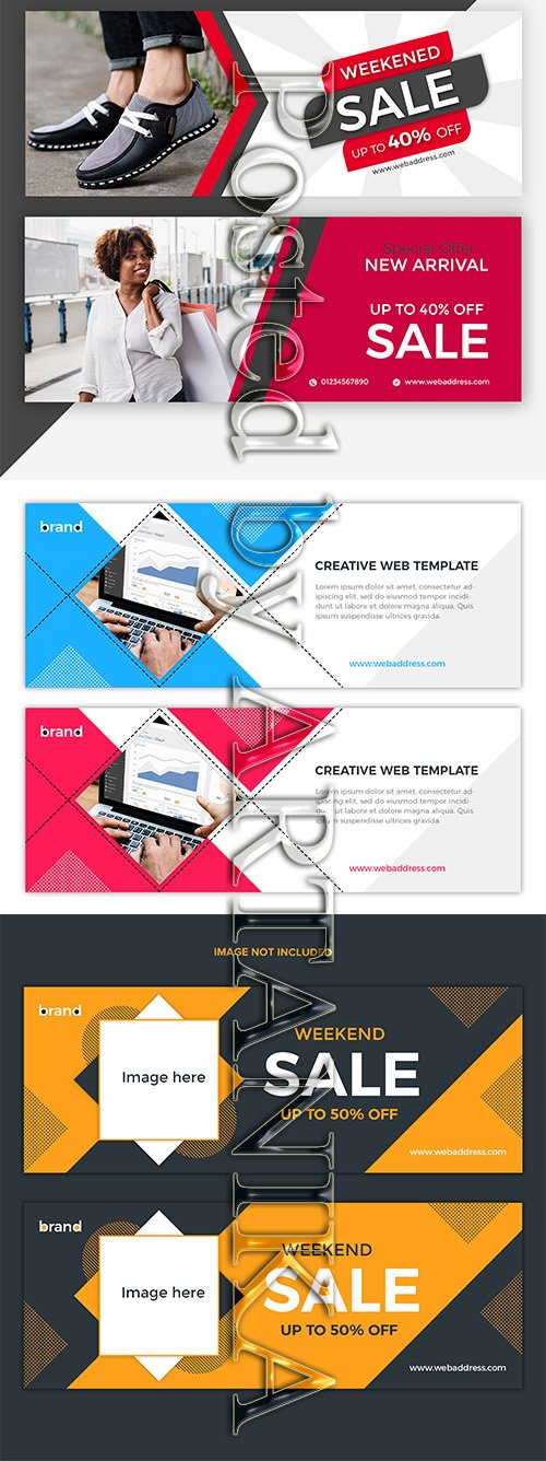 Facebook Cover Banner Design Template Kit