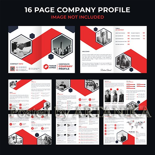 Corporate Company Brochure Catalogue Template