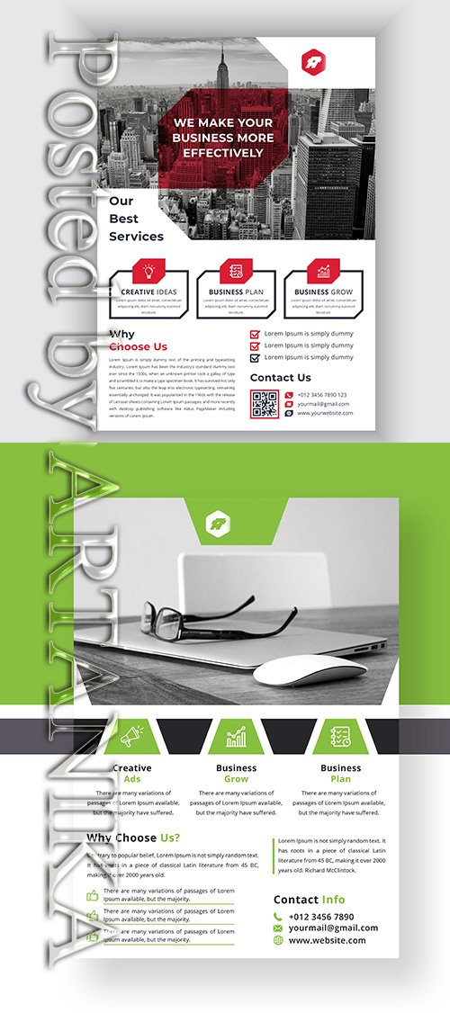 Modern Corporate Flyer Template Set