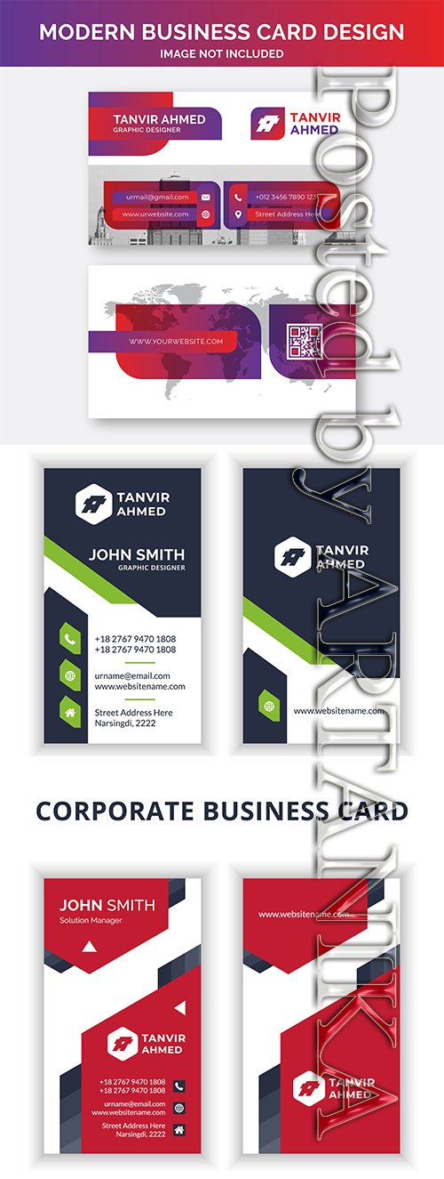 Modern and Corporate Business Card Templates