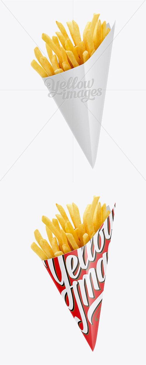 French Fries Carton Cone Mockup 12514 TIF