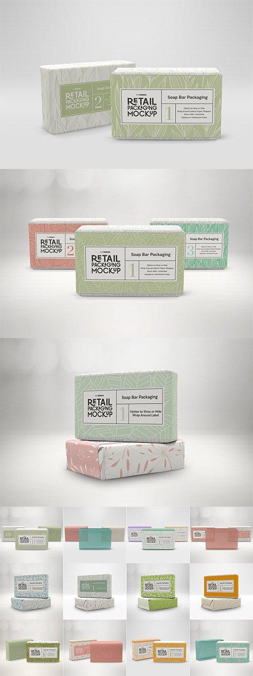 Retail Soap Bar Packaging Mockup PSD