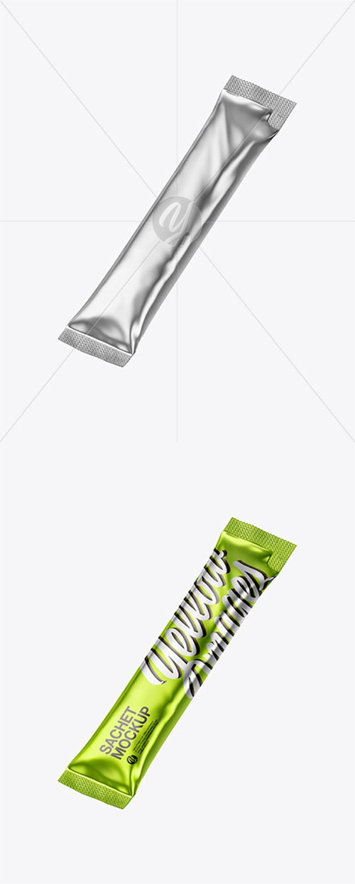 Metallic Stick Sachet Mockup 44357 TIF