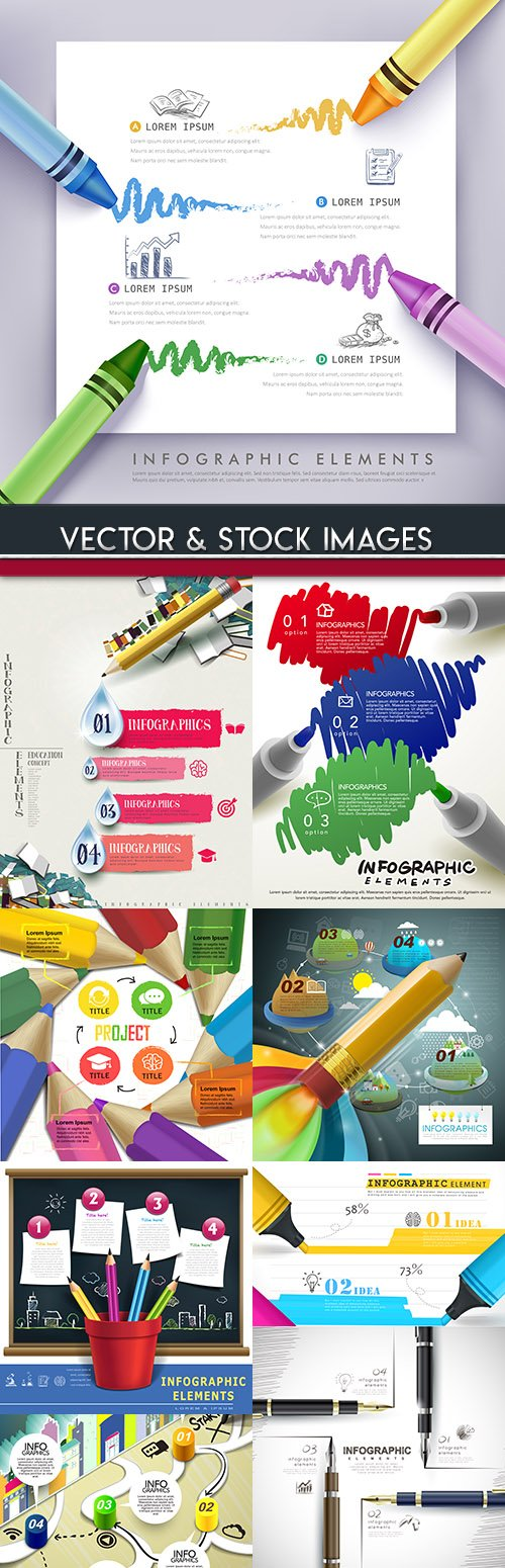Business infographics options elements collection 82