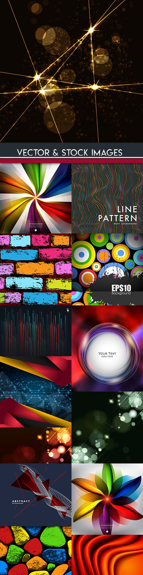 Modern abstract backgrounds decorative collection 25