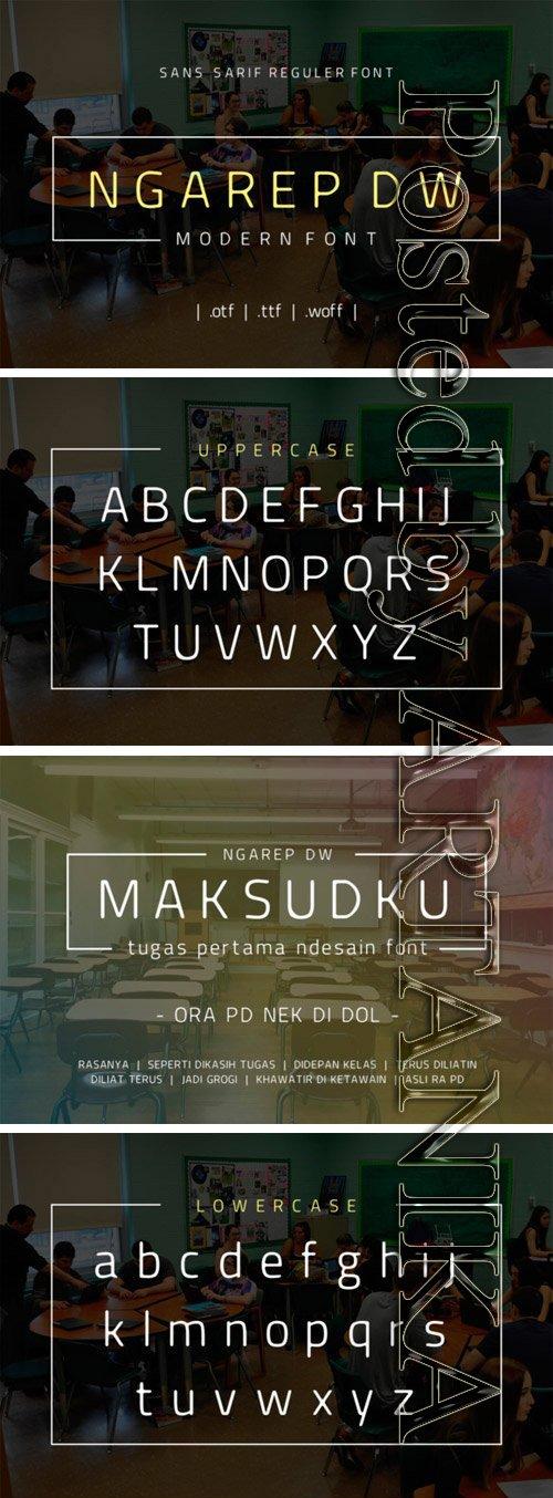Ngarep DW Font