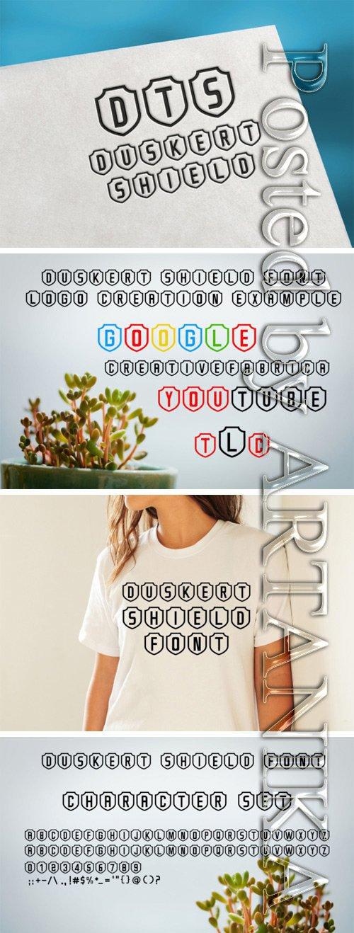 DuskerT Shield Font