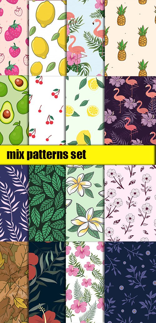 Mix Patterns Vector Set vol1