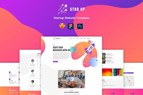 Star Up - Website Template For Startup