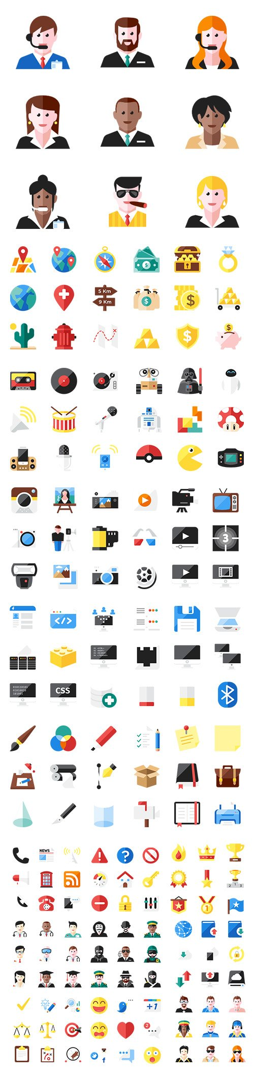 500+ Color Essential Vector Icons Pack