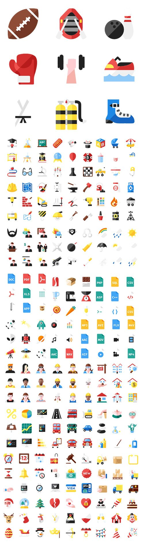 550+ Color Essential Vector Icons Pack vol2