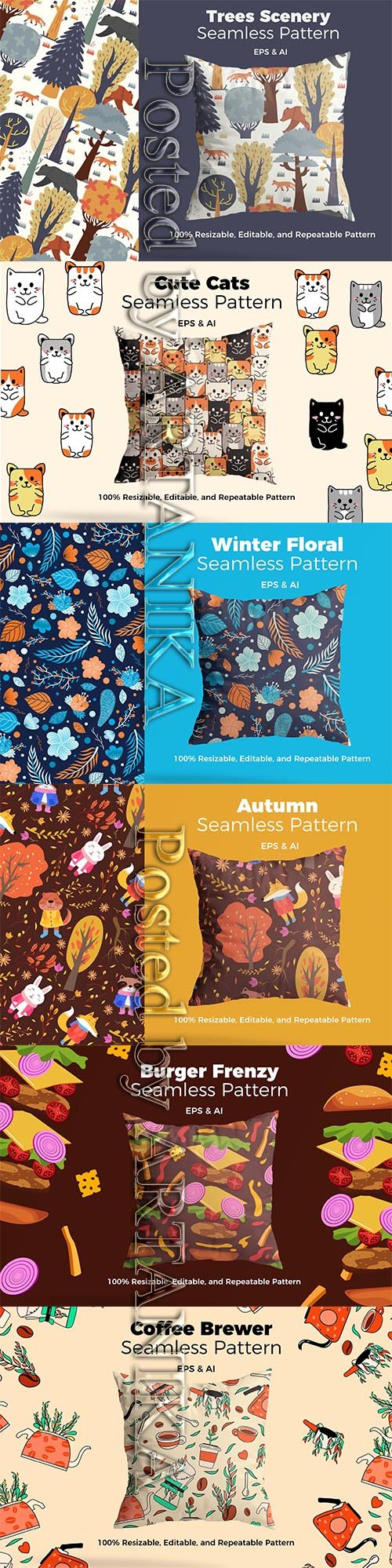 Mix Winter and Autumn Patterns Set