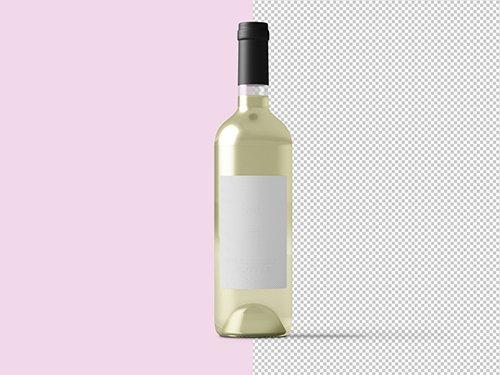 PSDT White Wine Bottle Mockup 236521057
