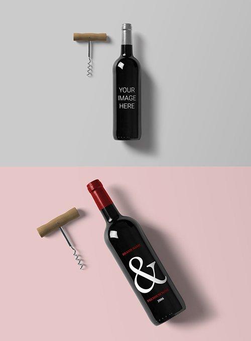 Wine Bottle Mockup 227353402