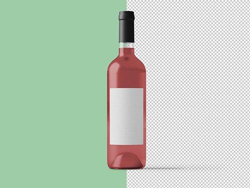PSDT Pink Wine Bottle Mockup 236516509