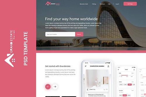 Grandestate - Real Estate Landing page