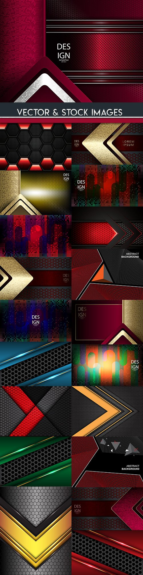 Elegant metallic and geometrical black background