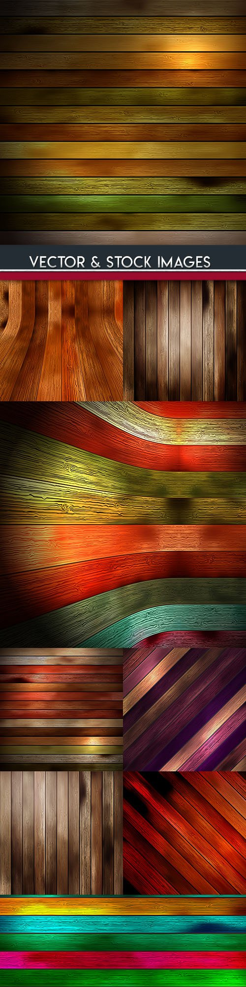 Wooden boards design color backgrounds