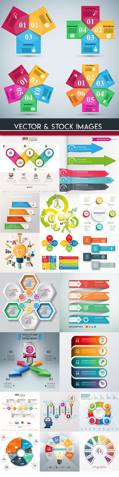 Business infographics options elements collection 86