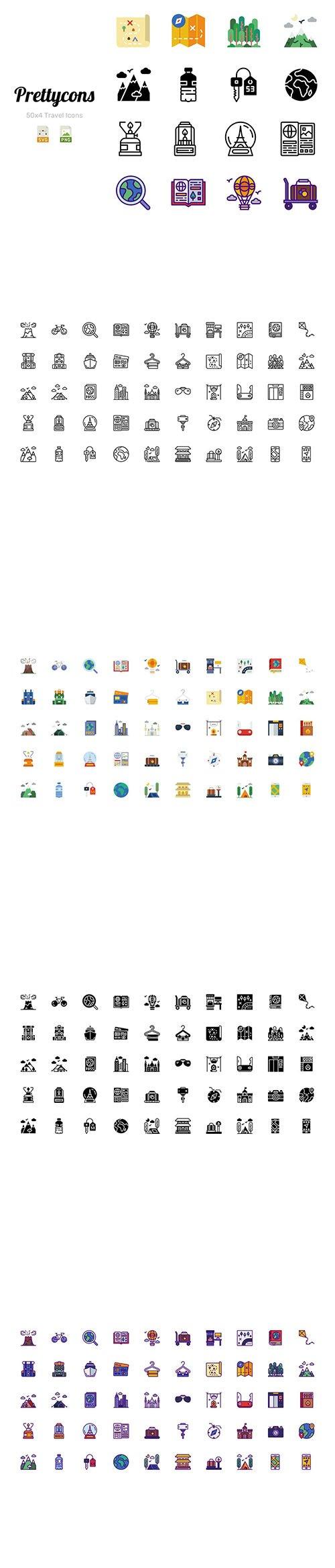 Prettycons - 200 Travel Icons Vol.1