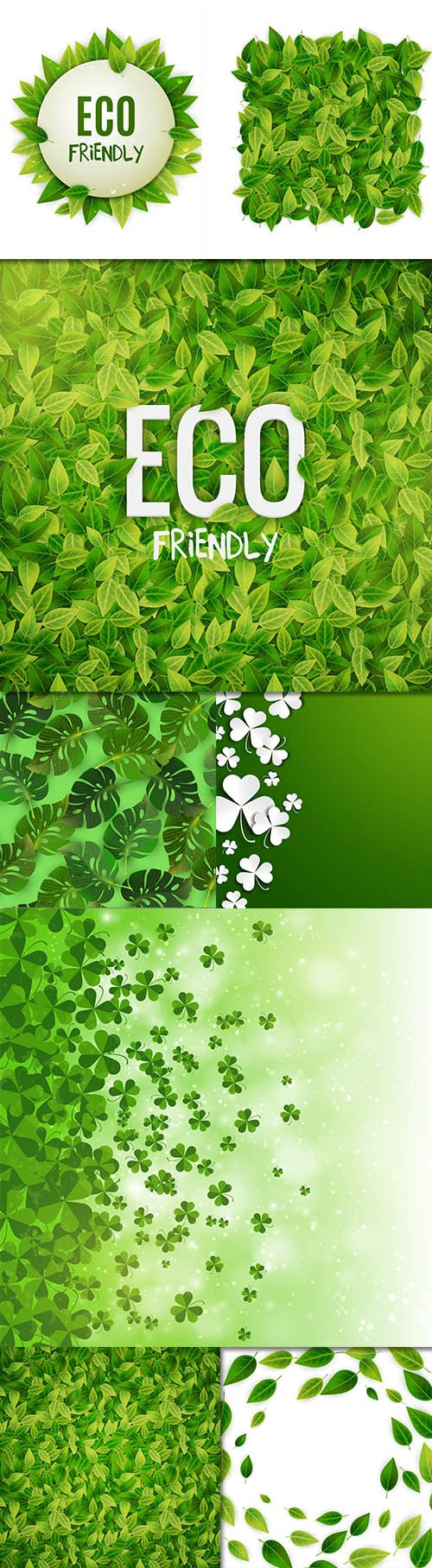 Beautiful Green Background Set