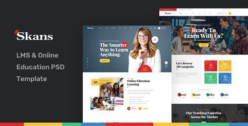 ThemeForest - Skans v1.0 - LMS Online Education PSD Template - 24494402