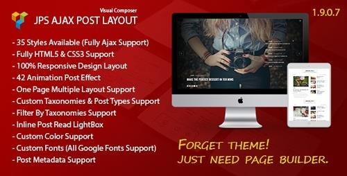 CodeCanyon - JPS Ajax Post Layout v1.9.0.7 - Addon For Visual Composer - 12044774