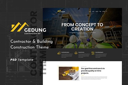 Gedung | Contractor & Building Construction PSD