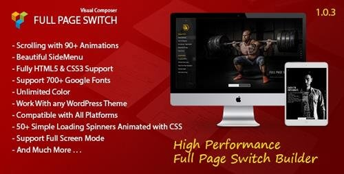 CodeCanyon - Full Page Switch v1.0.3 - With Side Menu - Addon For Visual Composer - 15813777