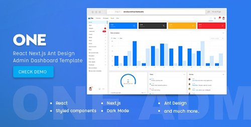 ThemeForest - One v1.0 - React Next.js & Ant Design Admin Template (Update: 1 May 19) - 23250544