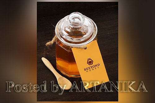 Honey Tag Branding Mock Up