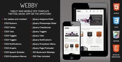 ThemeForest - Webby Mobile v1.0 (Update: 6 February 17) - 4823520