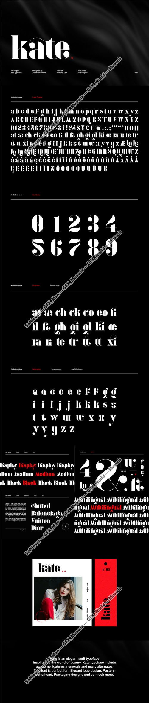 Kate - Elegant Typeface