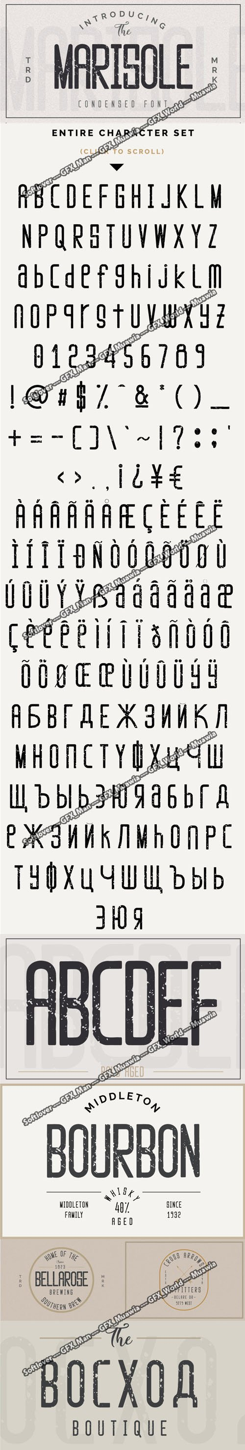 Marisole Textured Font