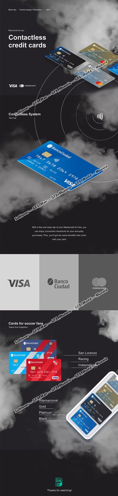 Credit Cards Mockups in Vector
