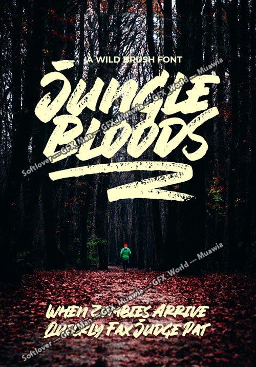 Jungle Bloods - A Wild Brush Font