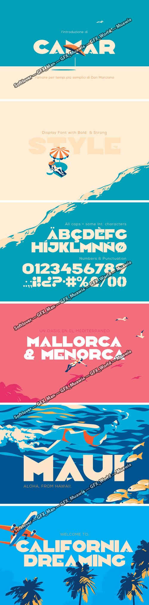 Camar Display Font with Bold & Strong