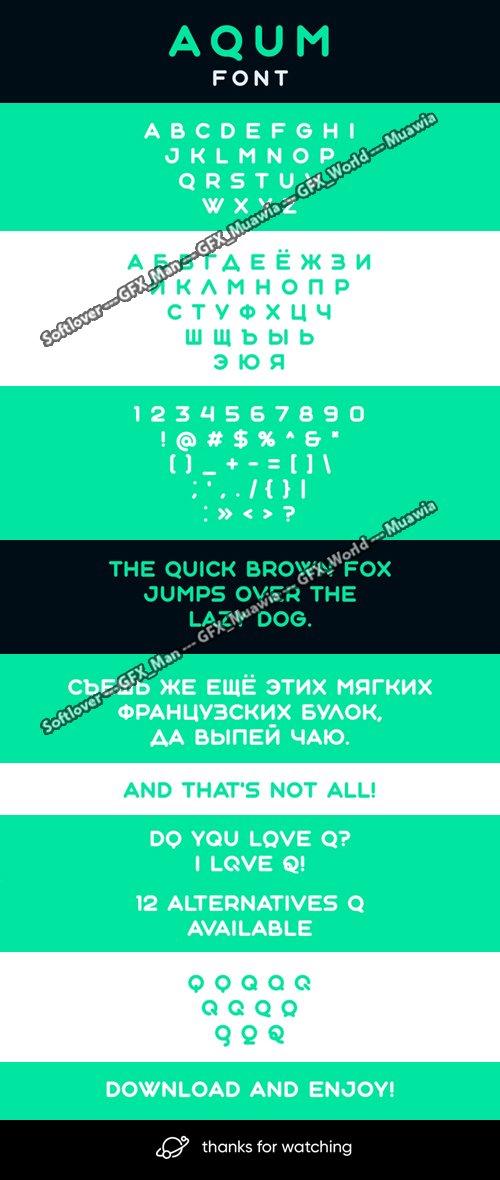 AQUM - Sans Serif Font