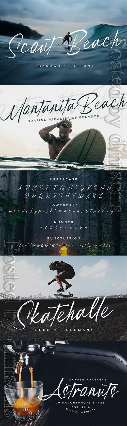 Scout Beach - Handwritten Brush Font