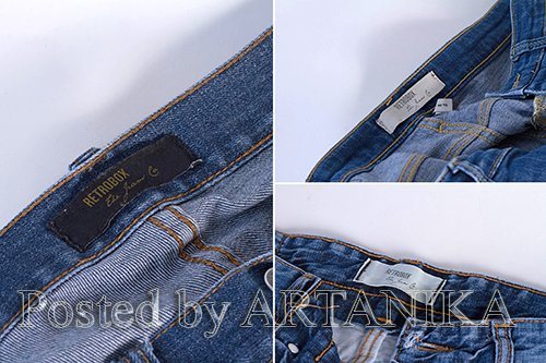 Interior Jeans Label Mock Up