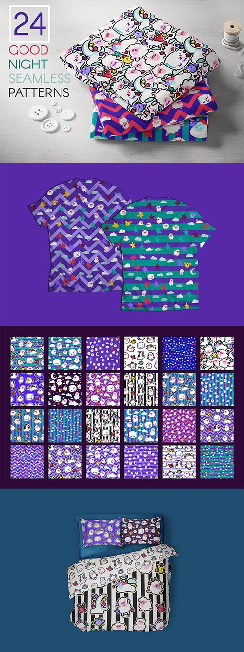 Good Night Patterns Pack