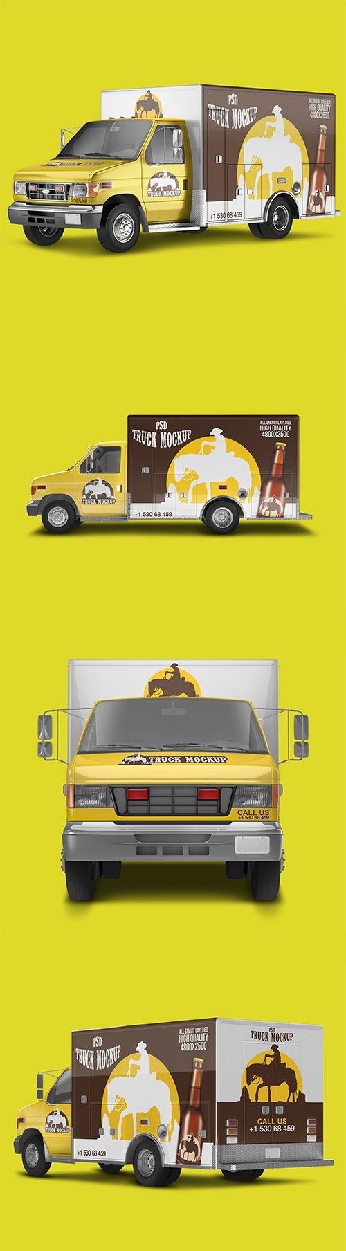 Delivery Truck Mockup Pack