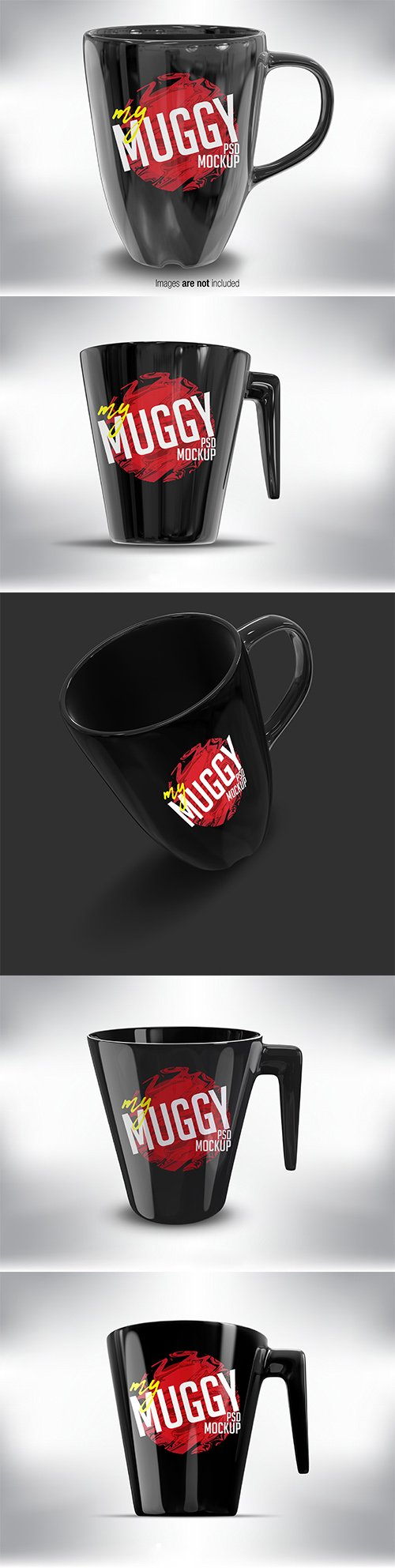 Black Mug Mock up Pack