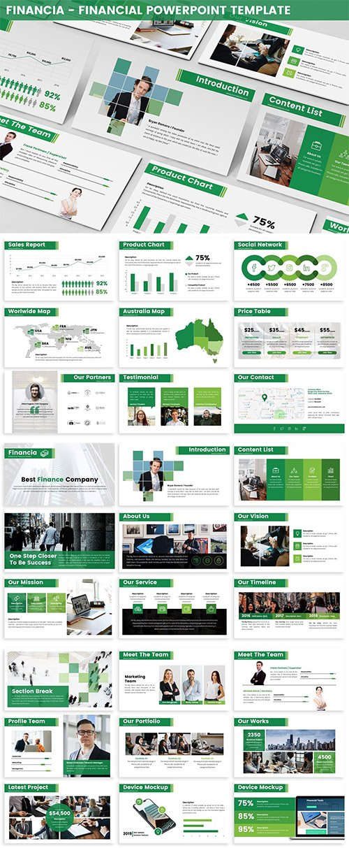 Financia - Financial Powerpoint Template