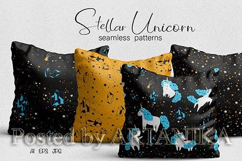 Unicorn Seamless Patterns