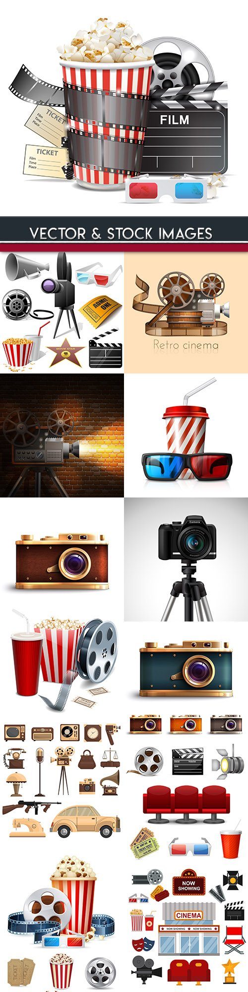 3d cinematography classic film and cinema objects