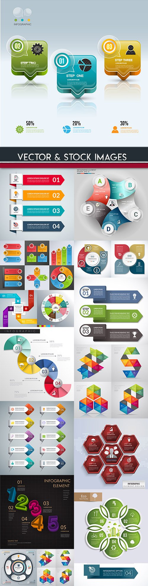 Business infographics options elements collection 88