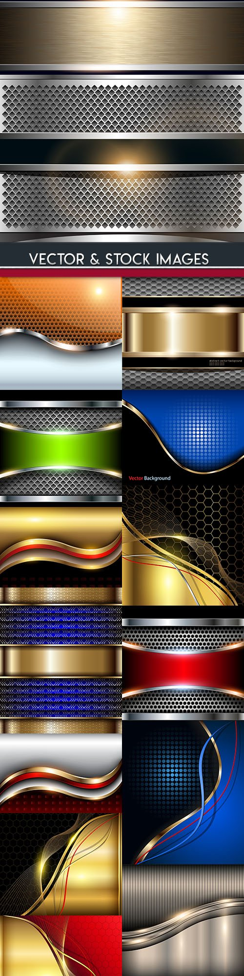 Elegant metallic and gold lines abstract background