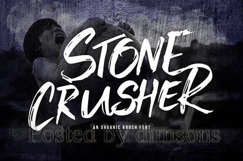 Stone Crusher - Brush Display Font